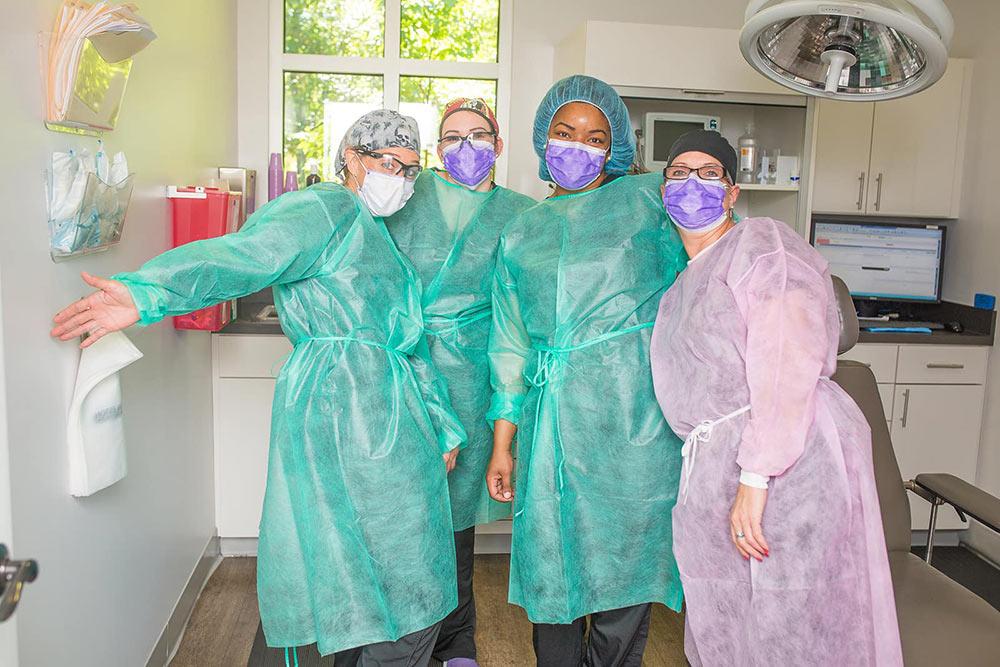 Staff at Charleston Oral and Facial Surgery.